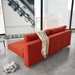 Innovation Living Recast Plus Modern Sleeper Sofa in Paprika - Back View