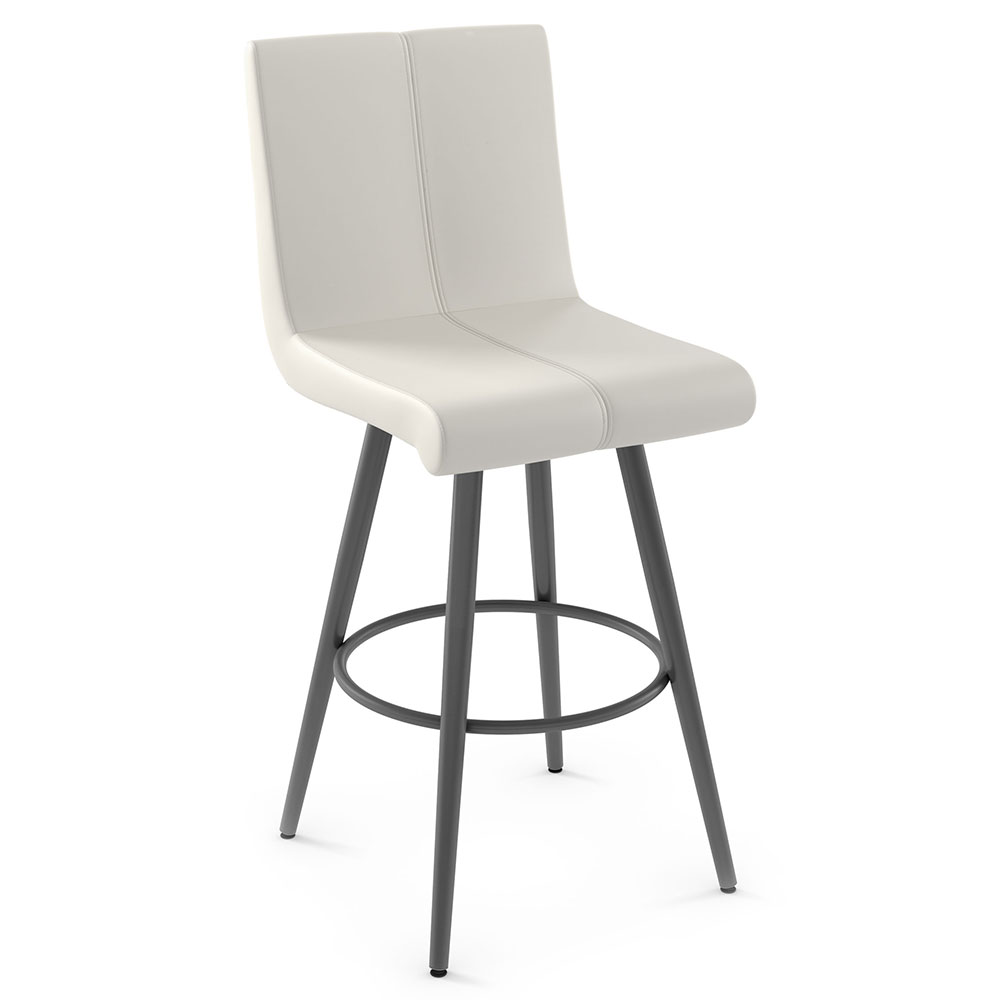 Regent Modern Bar Stool by Amisco in Metallo + Grigio