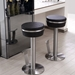 Remy Black + Stainless Steel Modern Bar Stool by Whiteline