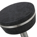 Remy Black + Stainless Steel Modern Bar Stool - Seat Detail