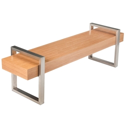 Return Contemporary Bench in Natural Oak by Gus Modern