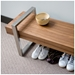 Modern Return Bench in Walnut by Gus Modern