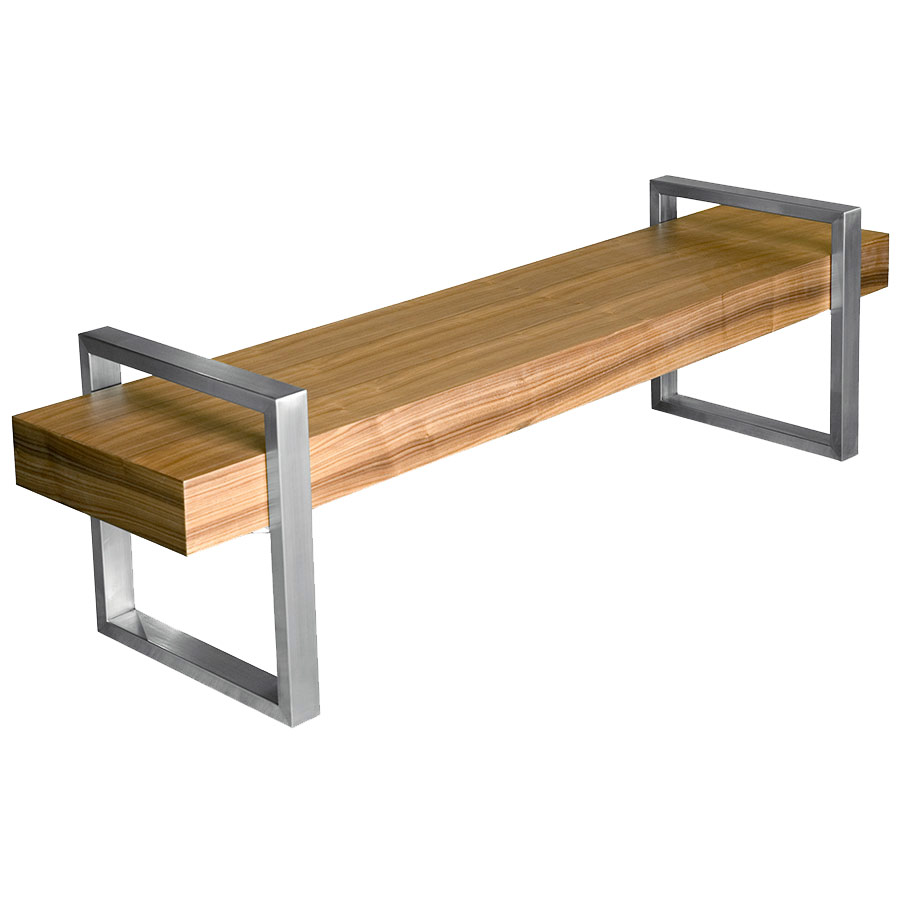 Gus Modern Return Bench In Walnut Eurway