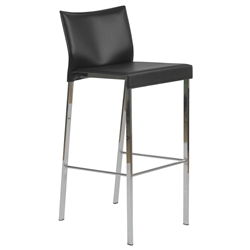 Riley-B Modern Black Bar Stool by Euro Style