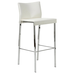 Riley-B Modern White Bar Stool by Euro Style