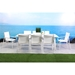 Rio Outdoor Modern White Dining Chairs + Table