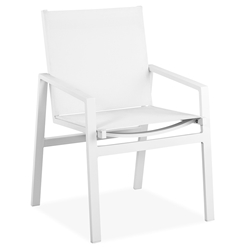 Rio Indoor Outdoor Modern White Arm Chair by Whiteline