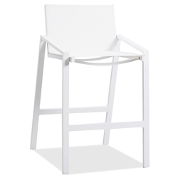 Rio Indoor Outdoor Modern White Bar Stool by Whiteline