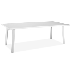 Rio Indoor Outdoor Modern White Dining Table by Whiteline