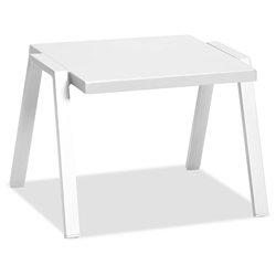 Rio Indoor Outdoor Modern White Side Table by Whiteline