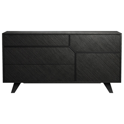 Modloft Rivington Modern Dresser in Gray Oak Wood