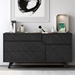 Modloft Rivington Modern Dresser in Gray Oak Wood - Room Setting