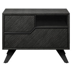 Modloft Rivington Left-Facing Modern Nightstand in Gray Oak