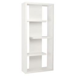 Robyn Modern White Shelving Unit by Euro Style