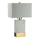 Rosa Brass Contemporary Table Lamp