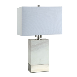 Rosa Nickel Contemporary Table Lamp