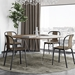 Row 59 Inch Modern Round Walnut + Chrome Dining Table