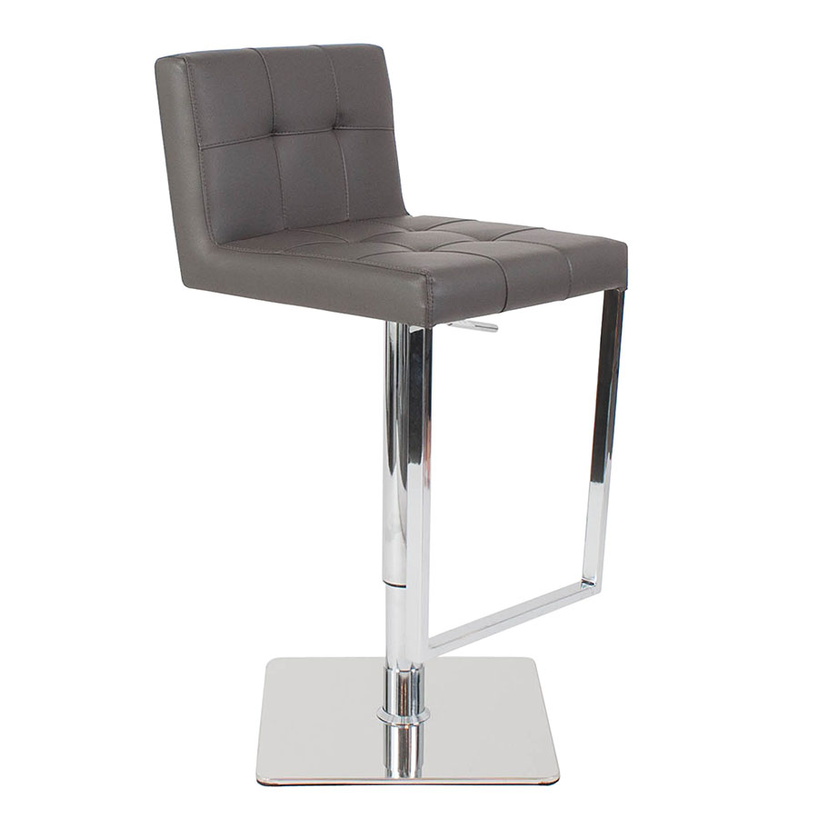 Rudiger Gray Adjustable Contemporary Stool