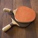 Rustic Industrial Style Ping Pong Table - Paddles Detail