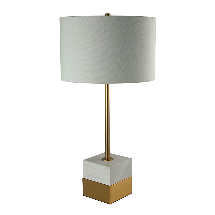 Sabien Brass Contemporary Table Lamp