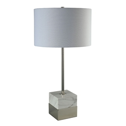 Sabien Nickel Contemporary Table Lamp