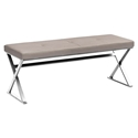 Sal Taupe Contemporary Dining Bench