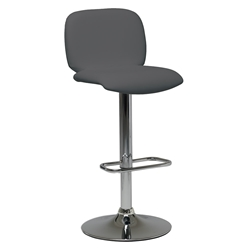 Samir Modern Adjustable Bar Stool in Anthracite by Pezzan
