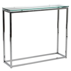 Sandor console table - clear glass
