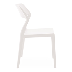 Sandy White Modern Indoor Outdoor Side Chair by Pezzan