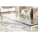 Sarah Modern Chrome and Glass Coffee Table