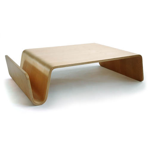 Scando Modern Birch Coffee Table + Magazine Rack by Offi & Company