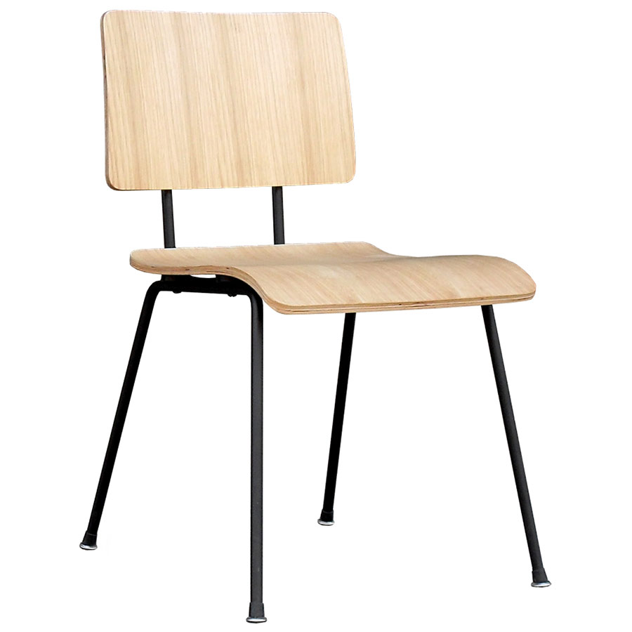 Gus Modern School Chair in Natural Oak | Eurway Modern School Chairs