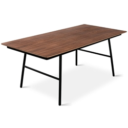 School Contemporary Dining Table by Gus Modern in Walnut