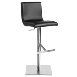 Scott Modern Black Adjustable Stool by Euro Style