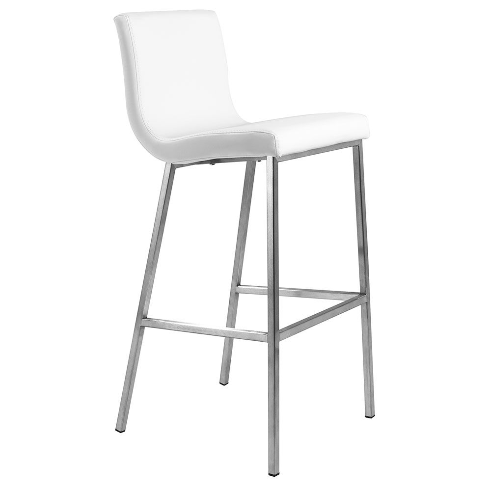 Scott Modern White Bar Stool by Euro Style
