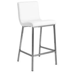 Scott Modern White Counter Stool by Euro Style