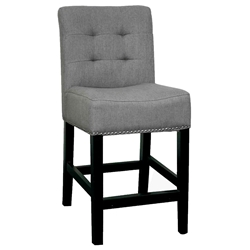 Scully Counter Stool in Gunmetal Colored Fabric