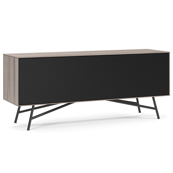 BDI Sector Modern Media Console in Strata Laminate with Black Powder Coated Steel Base