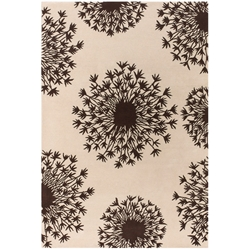 Seeds 3'x5' Rug in Brown and Cream