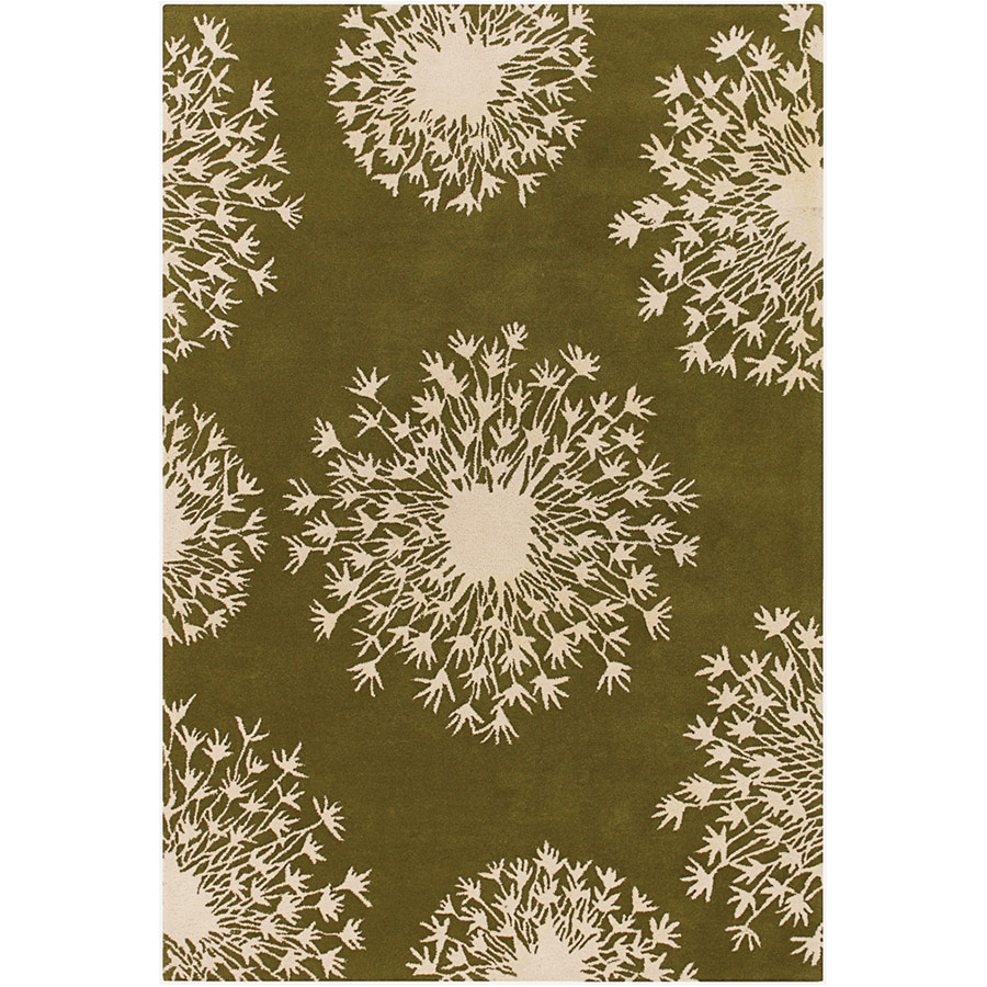 Seeds 5'x8' Rug in Green