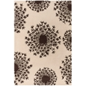 Seeds 8'x10' Rug in Brown and Cream