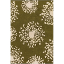Seeds 8x10 Rug in Green and Cream