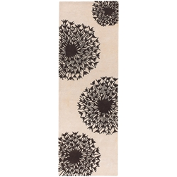 Seeds Runner Rug in Brown and Cream