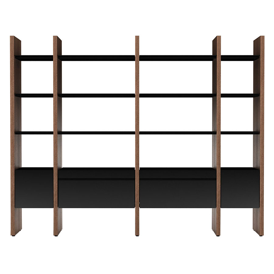 Modern Office Shelving In Semblance Contemporary Office Shelves By Bdi Modern Wall Unit Eurway