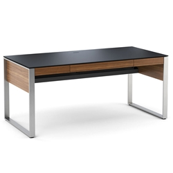 Sequel Executive Desk in Walnut by BDI