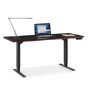 BDI Sequel Lift Contemporary Sit + Stand Desk in Cherry