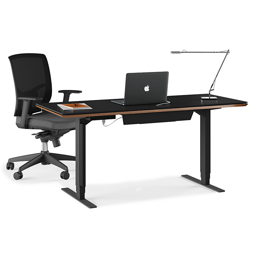 Sequel Walnut Modern Lift Desk By BDI Eurway Furniture - Office table lift