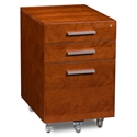 Sequel Contemporary Mobile File Cabinet Cherry