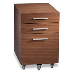 Sequel Contemporary Mobile File Cabinet Walnut by BDI