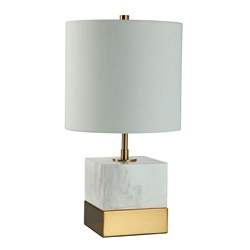 Seraphina Brass Contemporary Table Lamp